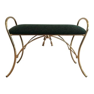 Polished Brass Bench with Roping Detail
