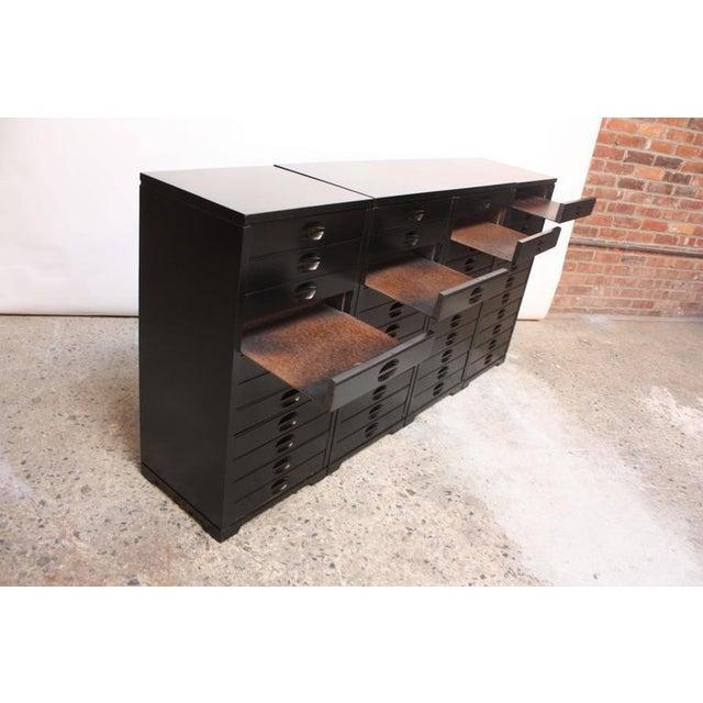 Set of Four Mid-Century American Modern Ebonized Specimen Cabinets - Image 4 of 10