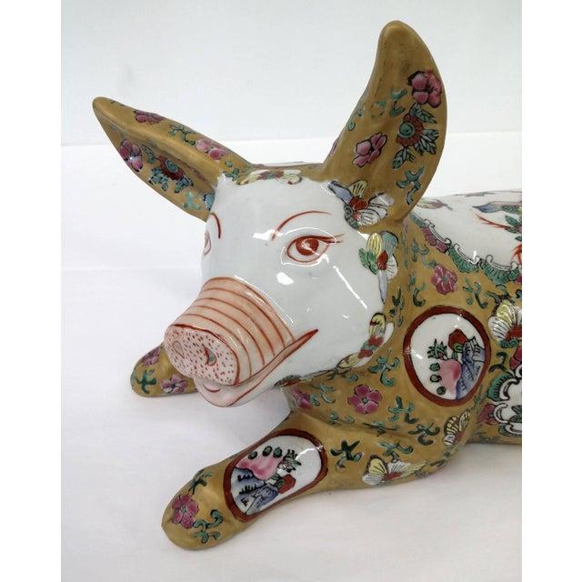 Japanese Meiji Antique Porcelain Pig - Image 3 of 10