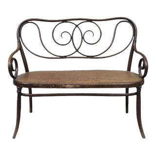 Bentwood Bench by August Thonet, 1900s