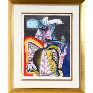 """Pablo Picasso Estate """"Personnage a La Pipe"""" Lithograph"""