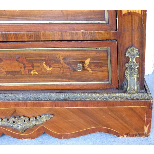 Antique French Style Marquetry Secretary - Image 9 of 11