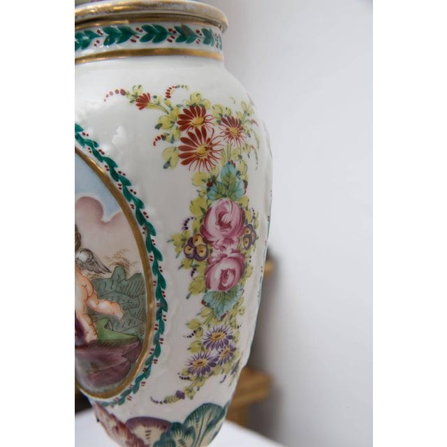 19th Century Pair of Italian Porcelain Capodimonte Vases as Table Lamps - Image 8 of 8