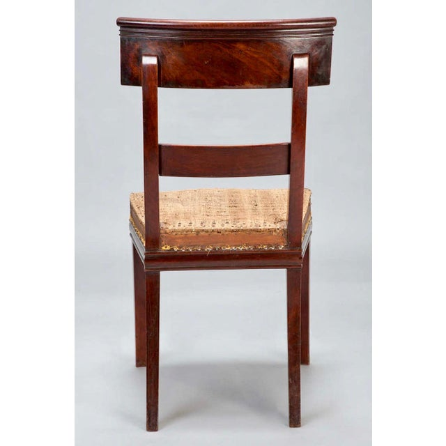 Image of Early 19th Century French First Empire Dining Chairs - Set of 6