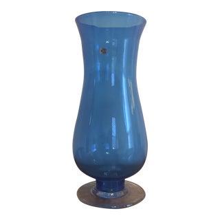 Blenko Blue Glass Floor or Table Vase