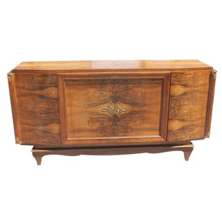 French Art Deco Exotic Walnut Sideboard / Buffet