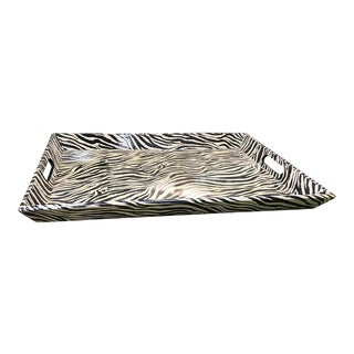 Zebra Pattern Serving Tray