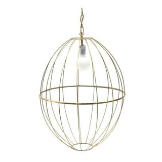 Vintage Gold Wire Birdcage Pendant