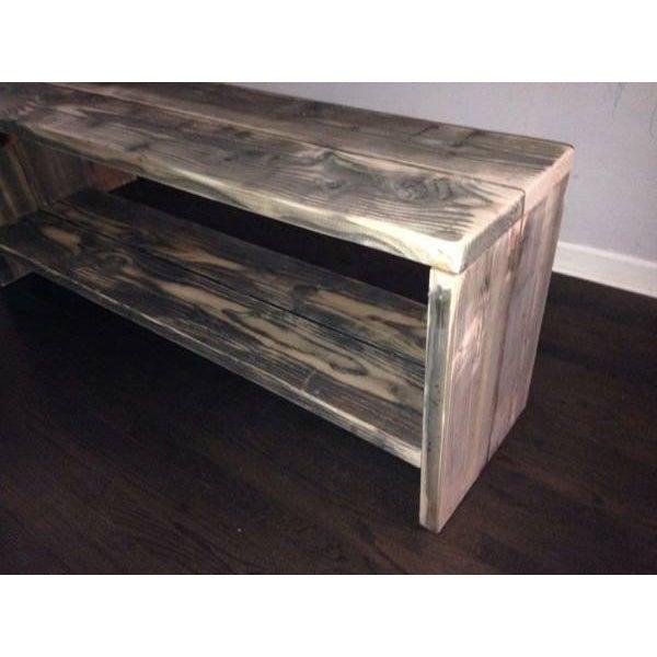 Custom Rustic Wood Bench - Image 6 of 7
