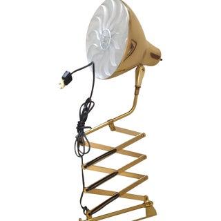 Mid-Century Modern Gold Metal Scissor Lamp