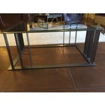 Image of Offset Corner Steel & Glass Coffee Table