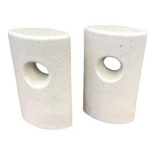 Mid-Century Modern Ceramic Salt & Pepper Shakers - A Pair