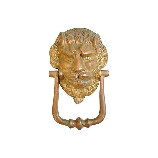 Vintage Lion Door Knocker & Strike Button - Image 6 of 8