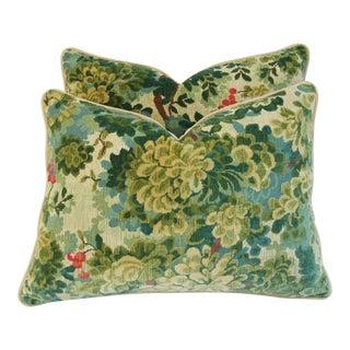 Designer Scalamandre Velvet Marly Pillows - Pair