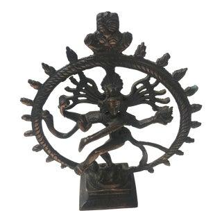 Vintage Cast Metal Copper Shiva