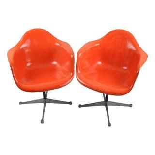 Herman Miller Eames Bucket Swivel Chairs - A Pair