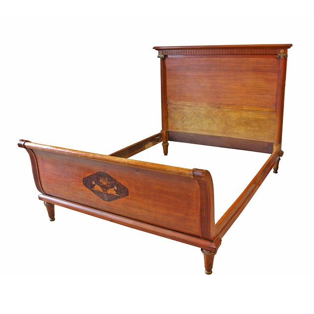 Antique deco empire style sleigh bed chairish for Empire style bed