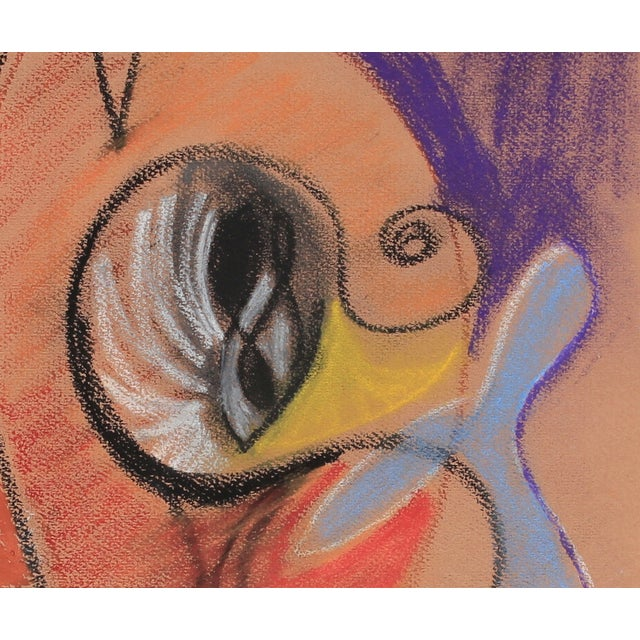 Bright Pastel Abstract Drawing, Late 20th Century - Image 2 of 2