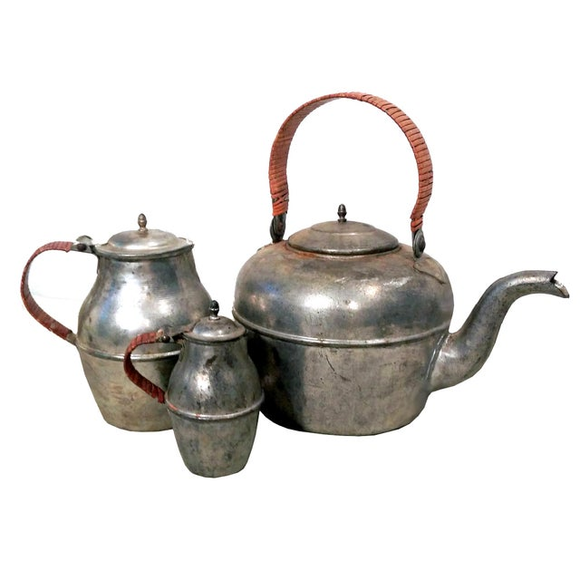 Image of Vintage French Kettle & Pitchers - Set of 3