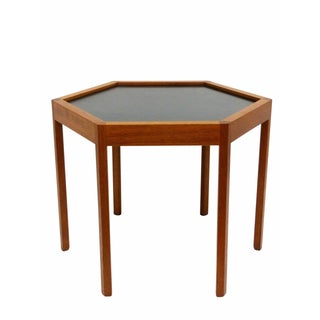 Hans Andersen Danish Teak Hexagon Side Table