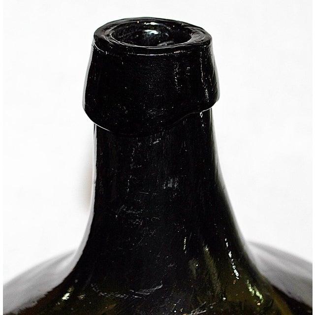 Green Demijohn Blown Bottle - Image 4 of 7