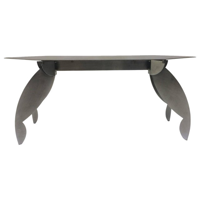Sculptural Steel Console Table - Image 1 of 5