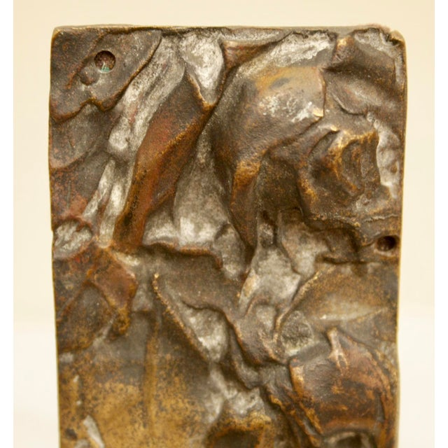 Bronze Abstract Panel on Faux Bamboo Easel - Image 6 of 8