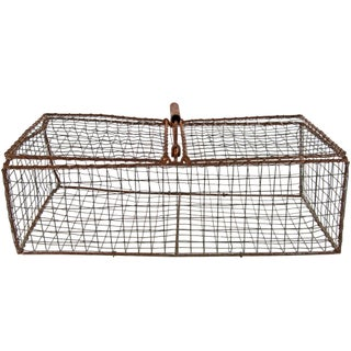Vintage French Wire Pigeon Carrier