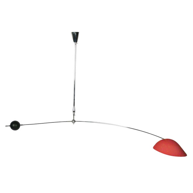 Angelo Lelii for Arredoluce Counterbalance Ceiling Light - Image 1 of 4