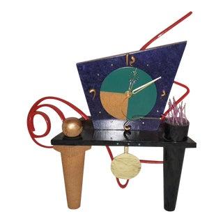 Ettore Sottsass Style Memphis Mantel Clock