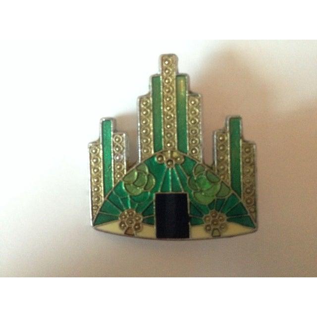 Image of Pierre Bex Art Deco Revival Enamel Brooches Set 3