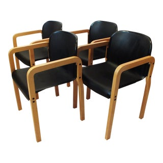Kembo Holland Bentwood Dining Chairs - Set of 4
