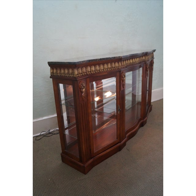 Image of French Louis XV Serpentine Console Curio Cabinet