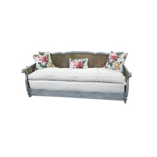 1800's Caned Daybed With Pillows