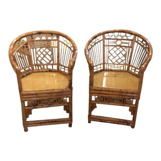 Bamboo Brighton Chairs - A Pair