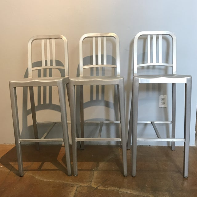 Emeco Aluminum Bar Stools- Set of 3 - Image 2 of 6