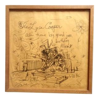 George Condo Framed Original Drawing