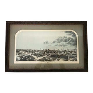 1855 Antique Key West Lithograph
