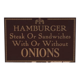 Hamburger Restaurant Sign