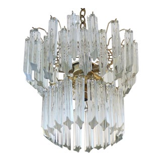 Mid-Century Venini Glass Chandelier