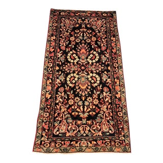 "Vintage Persian Lilihan Rug - 3'6""x7'3"""