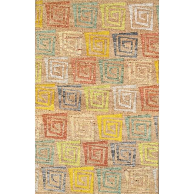 Pasargad's Hemp & Sari Silk Sumak Kilim - 5' x 8' - Image 1 of 4