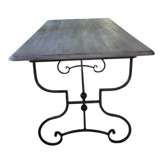 Gray Iron Dining Table