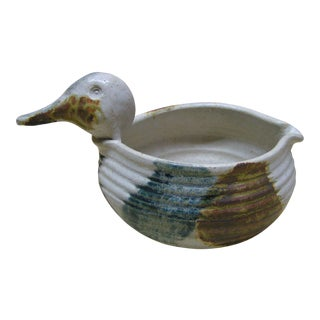 Christopher Bragg Stoneware Duck Bowl