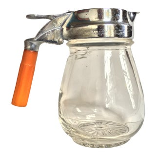 Vintage Syrup Dispenser With Bakelite Handle