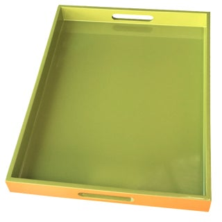 Lime Green Lacquer Tray
