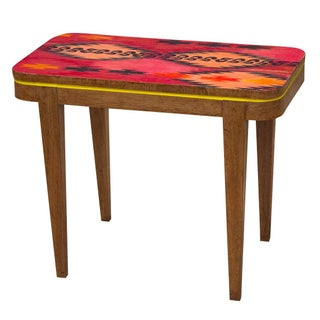 Geometric Accent Side Table