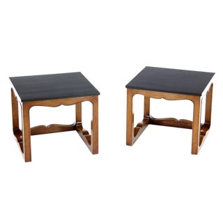 Pair of Mike Talor for Baker Square Cube Shape Side End Tables