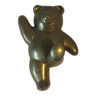 Brass Wall Hanging Bear