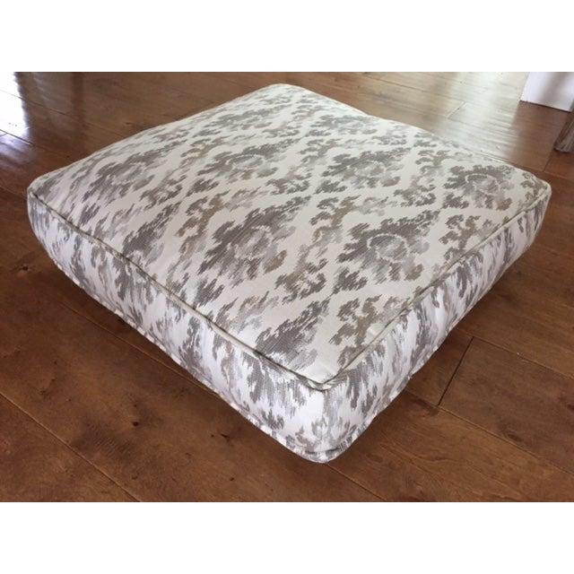 Gray Ikat Floor Cushions (4 Total) Chairish